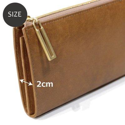 画像2: シームレス L字ファスナー長財布
